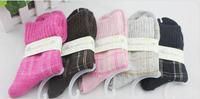 Free Shipping! 5pairs/lot  wool female sock lovely warm sock lovely color wool women sock winter sock   109