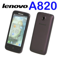 Lenovo A820 phone 4.5 inch IPS screen Quad-core CPU smart phone 4GB ROM 1GB RAM 8.0M Camera  free shipping