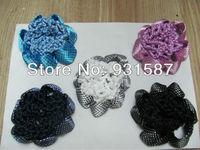 Free shipping Crochet  Dotted  Snood Bun Cover Mesh Bun  Hair Net  Mix Colors