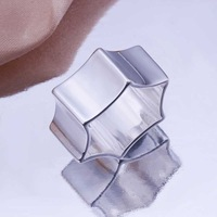 Free Shipping!Wholesale 925 Silver Ring,925 Silver Fashion Jewelry Hexagonal Ring SMTR190