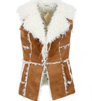 2013 new winter wool vest  coat women coat for women raccoon fur vest female coat ladies' leather jackets