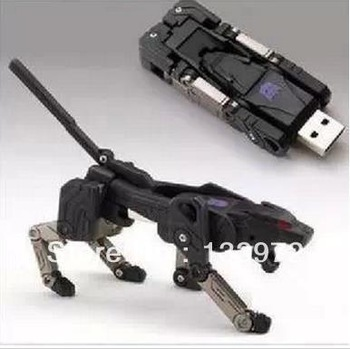 Deformation robot usb interest U disk animals to U disk Novel U disk Novelty USB