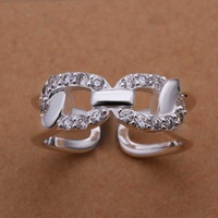 Free Shipping!Wholesale 925 Silver Ring,925 Silver Fashion Jewelry Austria Crystal Fashion Ring SMTR211