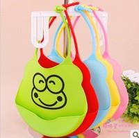 1X Cartoon Skin Baby Bibs Eat Solid Convenience Health Silicone Waterproof Bib Free shipping & wholesale