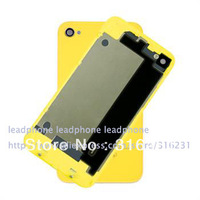 Back Glass housing battery cover for iPhone 4 4G  without logo mix color