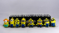 2013 Mini Despicable Me Action Figures Cute Keychains  PVC  8PCS/Set High Quality Free Shipping