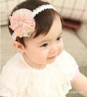 new ribbon wholesale big flower children's hair band / hair accessories / baby hair band / baby headband
