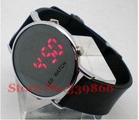 Holiday sales!New brand LOGO Fashion Mirror LED watch digital 12/24 hour the man student movement watch Valentine's Day gift