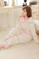 Princess flower sleepwear women's coral fleece sleepwear underwear set lounge xl plus size