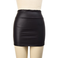 Free shipping# NWT Women Retro Faux Leather Shiny Wet Look Mini High Waist Sexy Skirt Clubwear