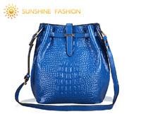 Women handbag Genuine leather bucket bag Hot women leather handbags famous brand designer women shoulder bags female casual tote
