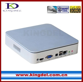 Thin Client PC,PC Station zero thin client Metal Case with Intel D2550 1.86Ghz Dual Core, Quad Core 4GB RAM+320GB HDD 1080P HDMI