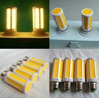 Get $10 off per $100 DHL Free Shipping $63.69/lot 12pcs/lot 7W COB SMD LED Corn Bulb Light E27/E14 Lamp Warm White 110V good