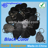 RFID Proximity 125Khz EM ID keyfob TK4100 rfid tag with Black color use for access control system