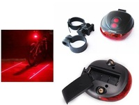 5pcs/Lot  Hot Selling Bicycle Cycling Laser Tail Light (2 Laser + 5 LED),Bike Safety Light Free Shipping