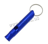 Free shipping!!!Aluminum Whistle,european style, painting, dark blue, 60x10mm, 50PCs/Lot, Sold By Lot