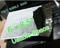 """[cnklp]- Good quality #0 Poly bubble envelopes padded Mailer Bag [50pcs] 6x8.5"""" usable space 153x220mm+40mm"""