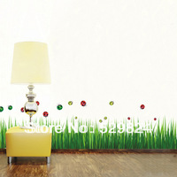 Grass Blue measure 135cm/pcs skirting line wall stickers /kids wall stickers decorative painting background wallpaper, WS-32