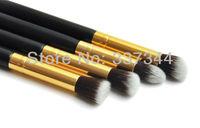 Hot Sale~ New 4 pcs Gold Synthetic Eye Brush Make up Brush Set Cosmetic Eyeshadow Brush Makeup Tool, Free Shipping