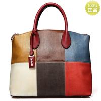 OPPO   brand women's handbag summer fashion color block women's handbag big bags 2013 9666 - 6