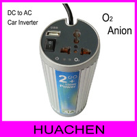 #3180  150W DC to AC  power  inverter with USB  2.1A car power adapter/inverter with 1.5million oxygen anion