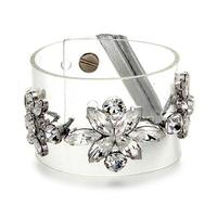 2014 New fashion romantic sparkling crystal flower women hologram bracelet Free shipping Min.order $10+Gift mix order