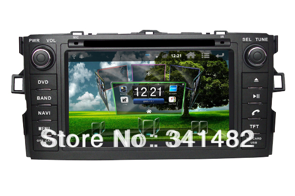 Android CAR DVD FOR TOYOTA COROLLA HATCHBACK with GPS Navigation DVD Radio Bluetooth PIP TV Free Maps Free shipping(China (Mainland))