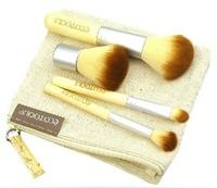 Big Discount! 4Pcs Earth-Friendly Bamboo Elaborate Makeup Brush Sets
