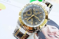 King watches Free shipping, men watch high quality quartz watch steel belt movement
