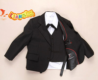 Boy suit Tuxedo for boy  Flower girl set 9 pcs/sets