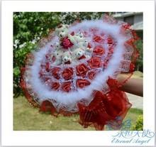 cheap rose heart wreath