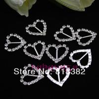 Wholesale Heart Wedding Invitation Rhinestone Crystal Buckle Free Shipping