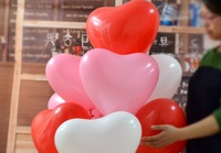 everts 100 pieces/lot  Latex Balloon 16 inch Love Heart Valentine's Day Wedding Holiday Party Decoration Thickening standard