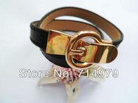 Free ePacket shipping 2013 Hot new Sale 5pcs H bracelet High Quality Bracelet real leather Michael bracelet Bangle Birthday gift