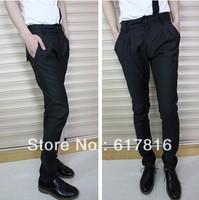 2013 spring autumn men's casual pants comfort slim straight suit trousers skinny fashion style pants men khaki dark blue black