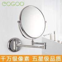 Beauty mirror copper retractable mirror bathroom makeup mirror double faced wall mirror dressing