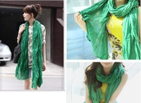 2013 the newest  women Pure color scarf trendy cotton long fold scarf cape beach towel large shawl wraps