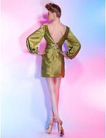 Lost in City Nights! Party Dress Prom Dress Sheath/ Column Bateau Short/ Mini Stretch Satin Cocktail Dress