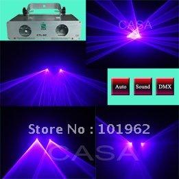 New equipment 100mW Violet Blue laser+100mW Violet Blue Laser light for stage for festival party(China (Mainland))