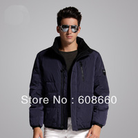 Free shipping 2013 winter hot selling solid color fashionable casual down coat male short design winter jacket men brand new