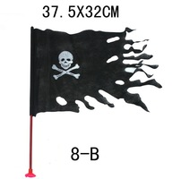 Bar decoration props pirate skull curtain flag Halloween and crossbones pirates flagman wave flag of the Caribbean banner