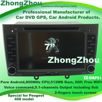 800MHz CPU 512MB Ram Peugeot 408 android DVD Peugeot 408 GPS 408 DVD player free wifi free shipping Support voice command Sub