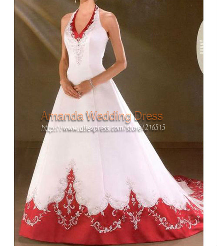 White Wedding Dresses With Red Trim : White wedding dress with red trim ping the