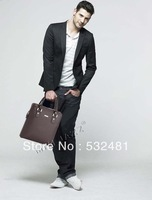 2013 hot-selling PU leather men's briefcase & Laptop bags Men messenger bag Free shipping