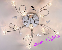 New Modern 11Lights Crystal Cube Ceiling Light Lamp Lighting Fixture new year  promotion free shipping D42-11