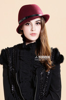 2013 Autumn/Winter Womens Celebrity Retro/Vintage Bowknot Dome Cap Wool Fedoras Fashion Jazz Hat