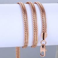 6MM 18K Yellow/Rose Gold Filled Necklace Snake Bone Chain Necklace Mens Chain Necklace  Wholesale 24inch/61cm LGN92