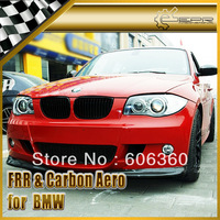 For BMW 1-Series E87 Carbon Fiber Front Bumper Splitter Front Lip (2Pcs)