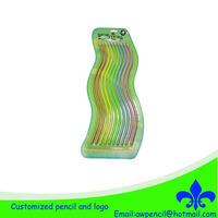 Customized 30cm sprout soft pencils 10pcs/blister card LH-294