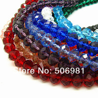 10mm 720pcs Wholesale Fashion AAA Top Quality Mix Color Cut Surface Rondelle Crystal Jewelry Beads Pendant Free Shipping HB956